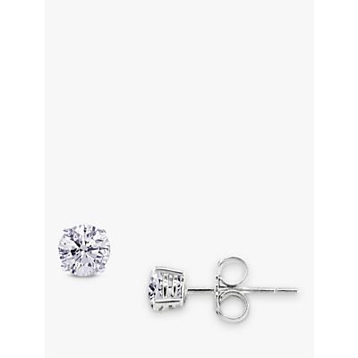 EWA White Gold Diamond Stud Earrings