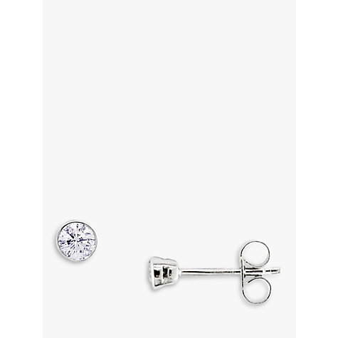 Buy EWA 18ct White Gold Diamond Stud Earrings Online at johnlewis.com