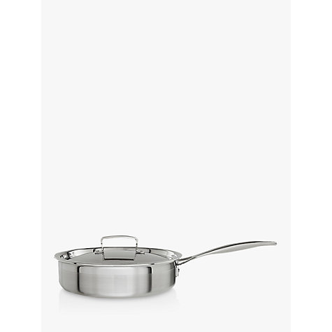 Buy Le Creuset 3-ply Stainless Steel Sauté Pan, 24cm Online at johnlewis.com