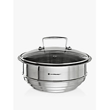 Buy Le Creuset 3-Ply Stainless Steel Multi-Steamer with Glass Lid Online at johnlewis.com