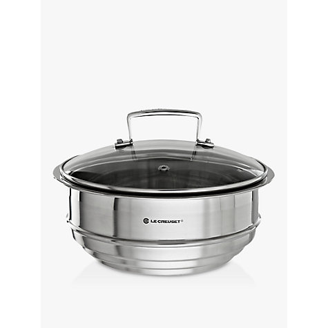 Buy Le Creuset Stainless Steel Multi-Steamer with Glass Lid Online at johnlewis.com
