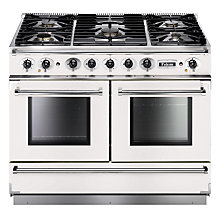 Buy Falcon Continental 1092 DFWH/NG Dual Fuel Range Cooker, White Online at johnlewis.com