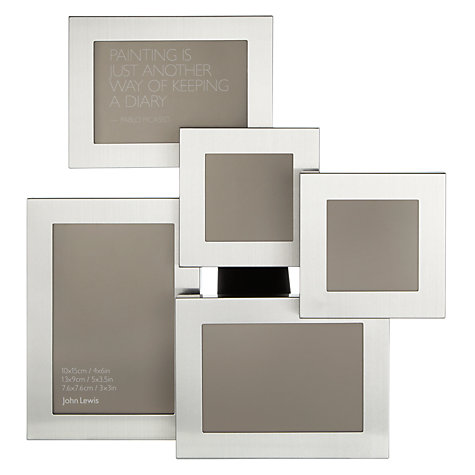 Buy John Lewis Brushed Aluminium Photo Frame, 5 Aperture Online at johnlewis.com