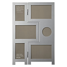 Buy John Lewis Brushed Aluminium Photo Frame, 6 Aperture Online at johnlewis.com
