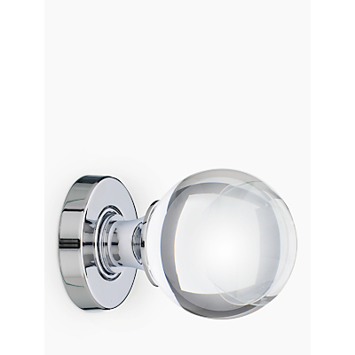John Lewis Glass Mortice Knobs, Pack of 2, Dia.55mm