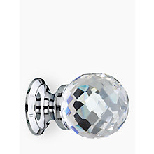 Buy John Lewis Cut Glass Cupboard Knob, Chrome, Dia.30mm Online at johnlewis.com