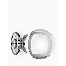 Buy John Lewis Glass Cupboard Knob, Dia.35mm Online at johnlewis.com
