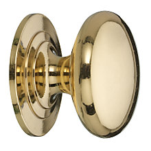 Buy John Lewis Cupboard Knob, Brass, Dia.38mm Online at johnlewis.com