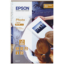 Buy Epson Photo Paper, 10 x 15cm, 70 sheets Online at johnlewis.com