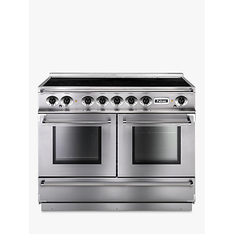 Buy Falcon Continental 1092 EISS/C-EU Induction Hob Range Cooker, Stainless Steel & Chrome Online at johnlewis.com