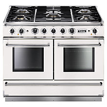 Buy Falcon Continental 1092 DFWH/NM Dual Fuel Range Cooker, White Online at johnlewis.com