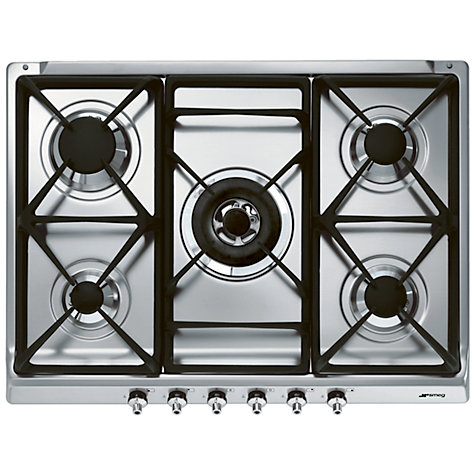 Buy Smeg SE70SGH-5 Gas Hob, Stainless Steel Online at johnlewis.com