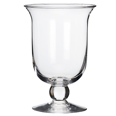 Glass Hurricane Lamp, 22cm