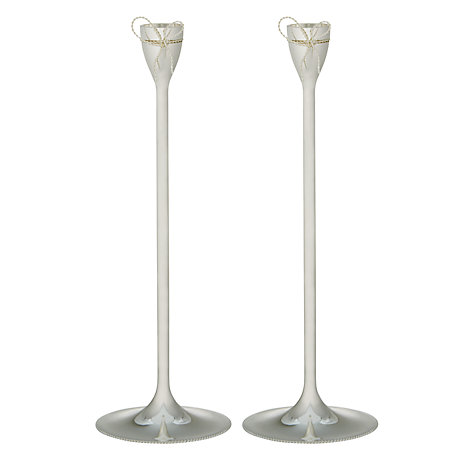 Buy Vera Wang for Wedgwood Love Knots Candlesticks, Pair Online at johnlewis.com