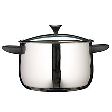 Buy John Lewis Curve Stockpot and Lid, 26cm Online at johnlewis.com