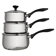 Buy John Lewis Curve 3 Piece Pan Set Online at johnlewis.com