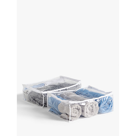 Buy John Lewis Transparent Blanket Bags, Pack of 2 Online at johnlewis.com