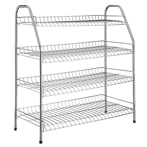 Buy 4 Tier Metal Shoe Rack Online at johnlewis.com