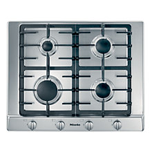 Buy Miele KM2010 Gas Hob, Stainless Steel Online at johnlewis.com