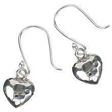 Buy Martick Jewellery Planished Heart Earrings, MJ1594 Online at johnlewis.com
