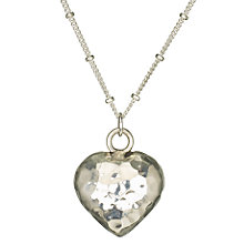 Buy Martick Jewellery Planished Heart Pendant Online at johnlewis.com