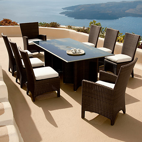 Buy Barlow Tyrie Savannah Rectangular 8 Seater Outdoor Dining Table Online at johnlewis.com
