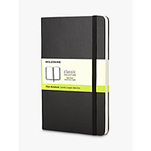 Buy Moleskine Plain Pocket Notebook Online at johnlewis.com
