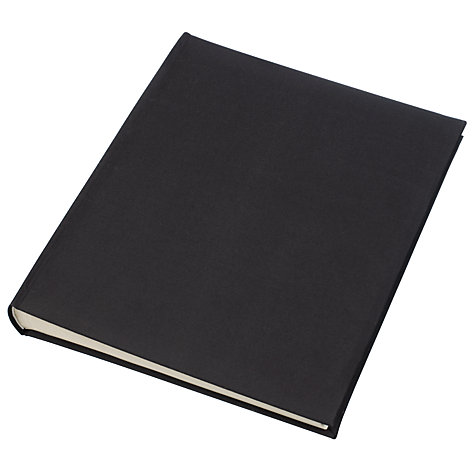 Buy John Lewis Linen Photo Album, Black Online at johnlewis.com