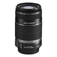 Buy Canon EF-S 55-250mm f/4-5.6 IS Telephoto Zoom Lens Online at johnlewis.com