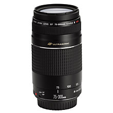 Buy Canon EF 75-300mm f/4-5.6 III USM Telephoto Zoom Lens Online at johnlewis.com