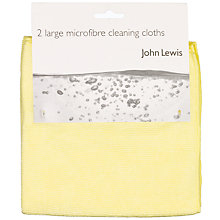 Buy John Lewis Microfibre Cloths, Pack of 2 Online at johnlewis.com