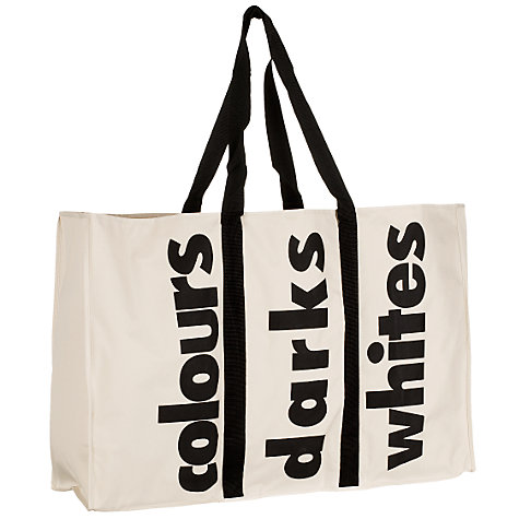Buy John Lewis 3 -in-1 Laundry Bag, White/Black Online at johnlewis.com