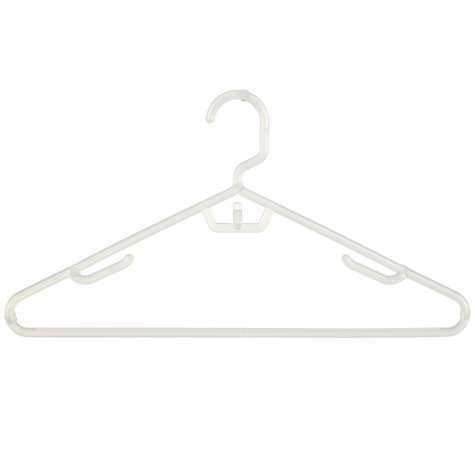 Buy John Lewis Space-Saving Hangers, Pack of 6, White Online at johnlewis.com