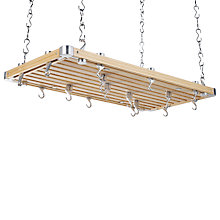 Buy Hahn Large Wooden Hanging Kitchen Pan Rack, Havea Wood Online at johnlewis.com