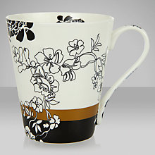 Buy V&A Brocade Mug, Black/White Online at johnlewis.com