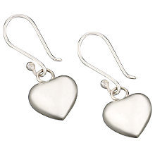 Buy Martick Polished Silver Puff Heart Earrings, MJ1162 Online at johnlewis.com