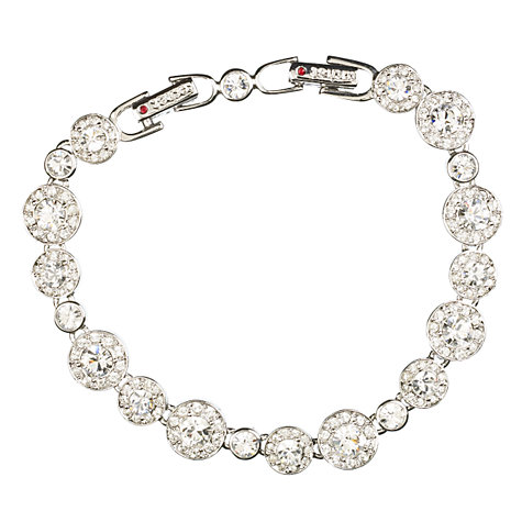 Buy Cachet London Diablo Rhodium Plated Crystal Cluster Bracelet, Silver Online at johnlewis.com