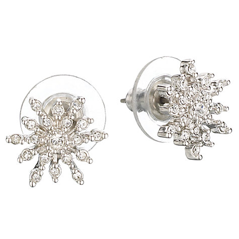 Buy Cachet London Snowflake Crystal Earrings, Silver Online at johnlewis.com