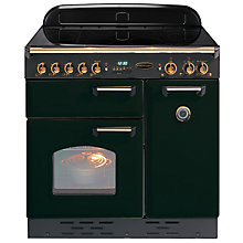 Buy Rangemaster Classic 90 Electric Induction Range Cooker, Black/Brass Trim Online at johnlewis.com