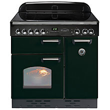 Buy Rangemaster Classic 90 Electric Induction Range Cooker and Cooker Hood, Black/Chrome Trim Online at johnlewis.com