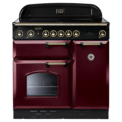Buy Rangemaster Classic 90 Electric Induction Range Cooker, Cranberry/Brass Trim Online at johnlewis.com