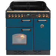 Buy Rangemaster Classic 90 Electric Induction Range Cooker, Blue/Brass Trim Online at johnlewis.com
