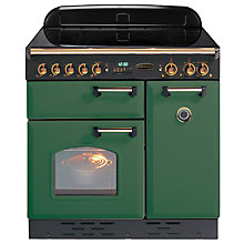 Buy Rangemaster Classic 90 Electric Induction Range Cooker, Green/Brass Trim Online at johnlewis.com