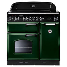 Buy Rangemaster Classic 90 Electric Induction Range Cooker, Green/Chrome Trim and LEIHDC90SC Chimney Cooker Hood, Stainless Steel Online at johnlewis.com