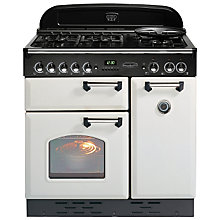 Buy Rangemaster Classic 90 Gas Range Cooker, Natural Gas, White/Chrome Trim Online at johnlewis.com