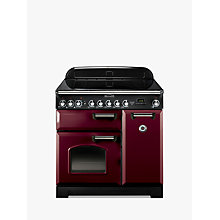 Buy Rangemaster Classic Deluxe 90 Electric Range Cooker, Cranberry/Chrome Trim and LEIHDC90SC Chimney Cooker Hood, Stainless Steel Online at johnlewis.com