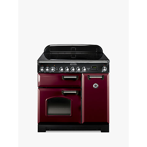 Buy Rangemaster Classic Deluxe 90 Electric Range Cooker, Cranberry/Chrome Trim Online at johnlewis.com