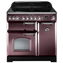 Buy Rangemaster Classic Deluxe 90 Electric Range Cooker, Taupe/Chrome Trim and LEIHDC90SC Chimney Cooker Hood, Stainless Steel Online at johnlewis.com