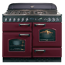 Buy Rangemaster Classic 110 Dual Fuel Range Cooker, Cranberry/Chrome Trim and LEIHDC110SC Chimney Cooker Hood, Stainless Steel Online at johnlewis.com