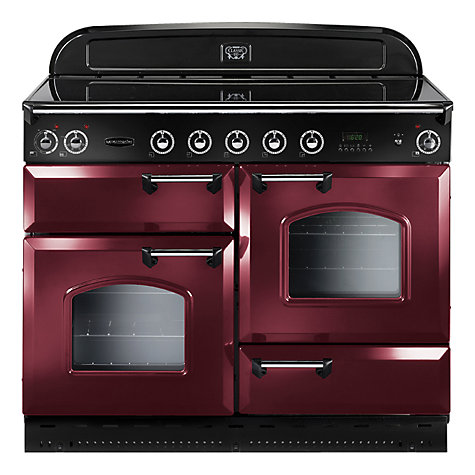 Buy Rangemaster Classic 110 Electric Range Cooker, Cranberry/Chrome Trim Online at johnlewis.com